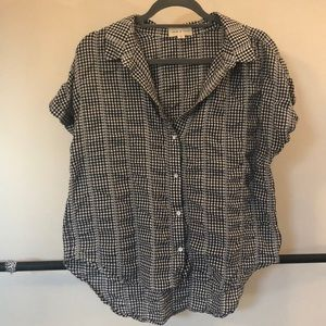 Cloth & stone (Anthropologie) gingham picnic top